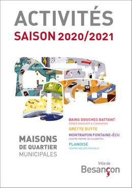 Programme des activités des Maisons de quartier municipales - Saison 2020/2021