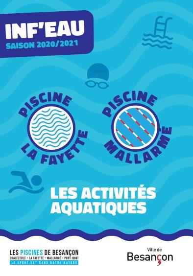 INF'EAU SAISON 2020/2021 - Les activités aquatiques