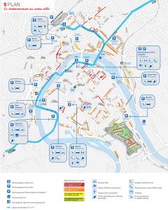 Plan du stationnement à Besançon