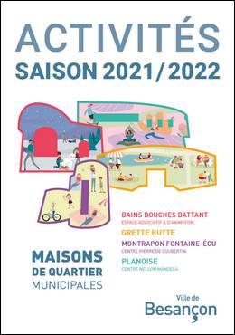 Programme des activités des Maisons de quartier municipales - Saison 2021/2022